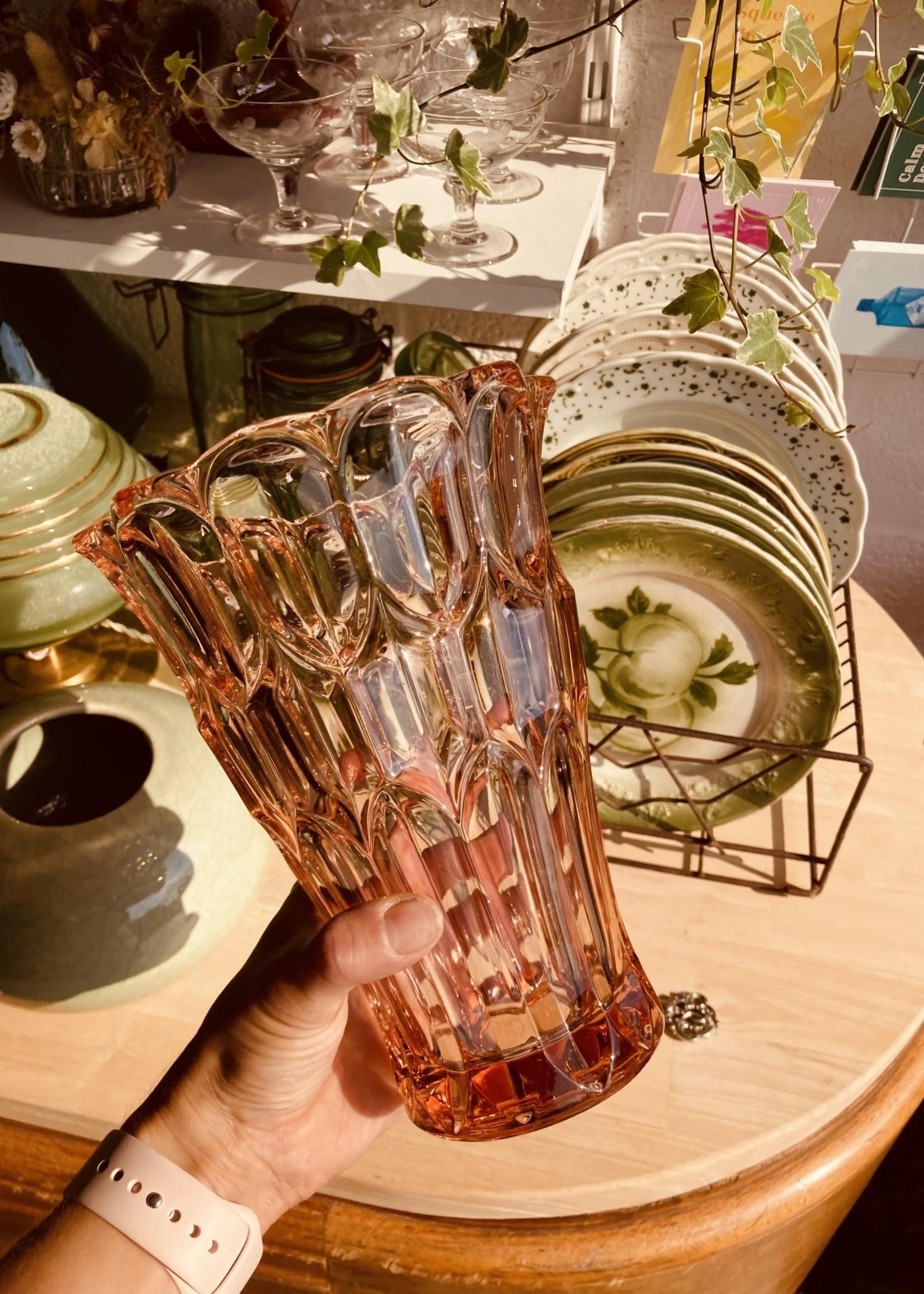 Rosaline glass pink Vase 1970