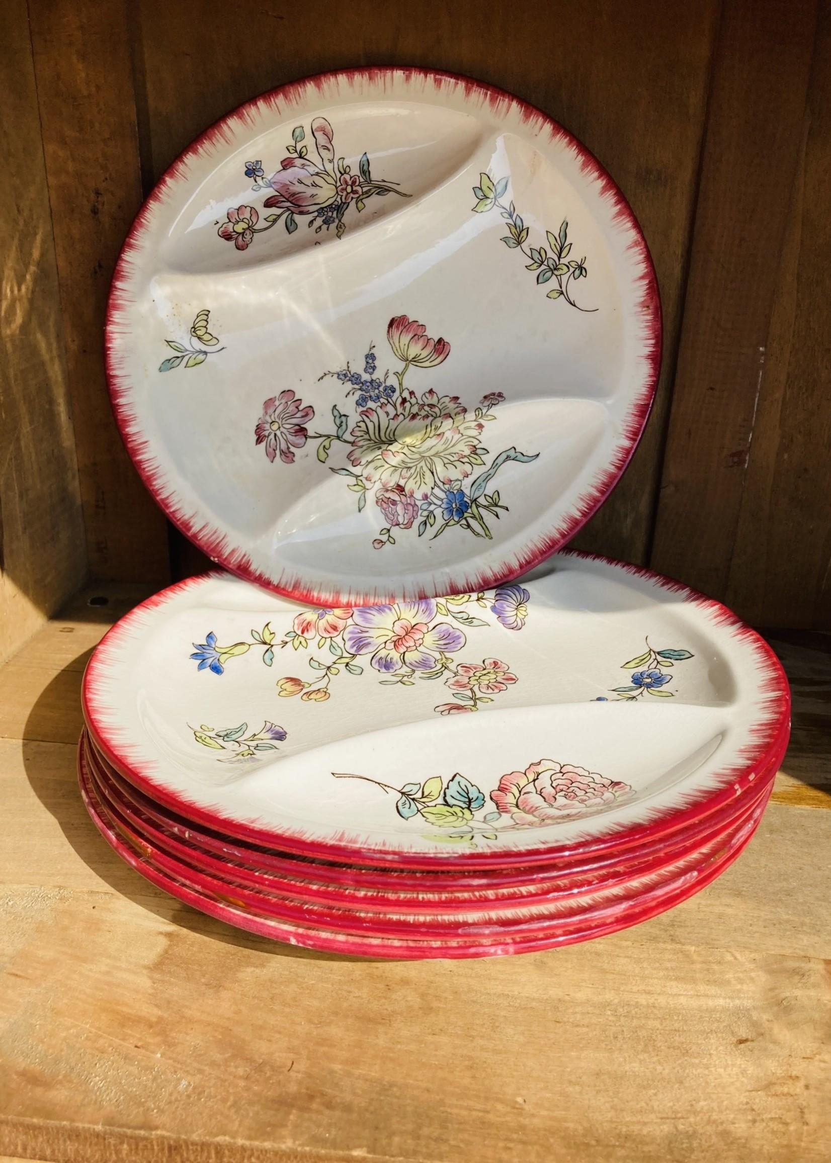 longwy Longwy plate from France Floral Deco