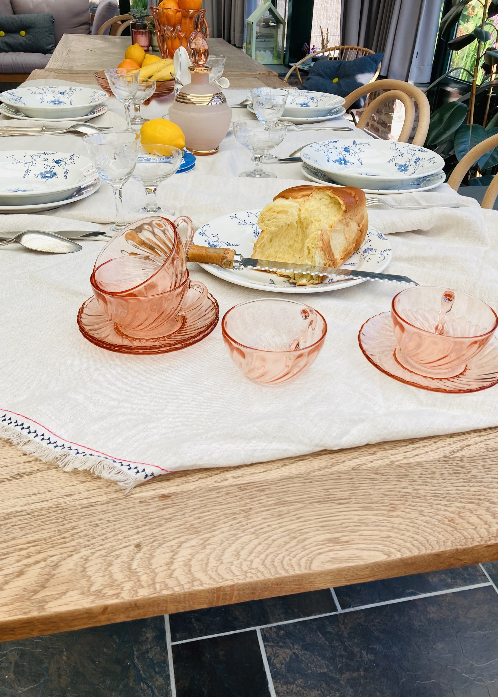 Set of 6 Rosaline Coffeecup (glass)