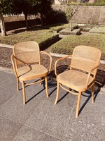 Bistro Chair by Hoffmann with armrest