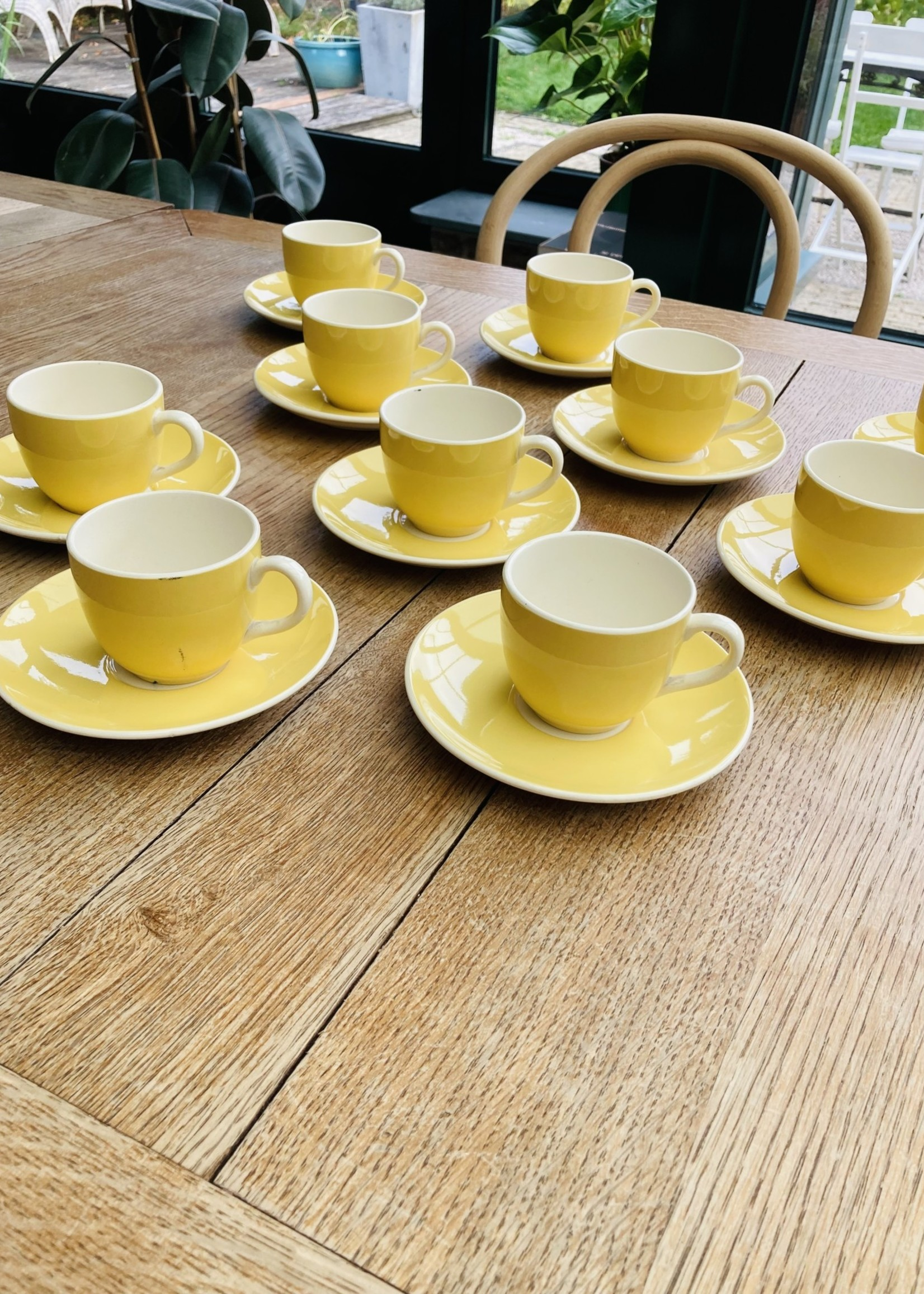 Mocca cup and plate from Villeroy and Boch light yellow
