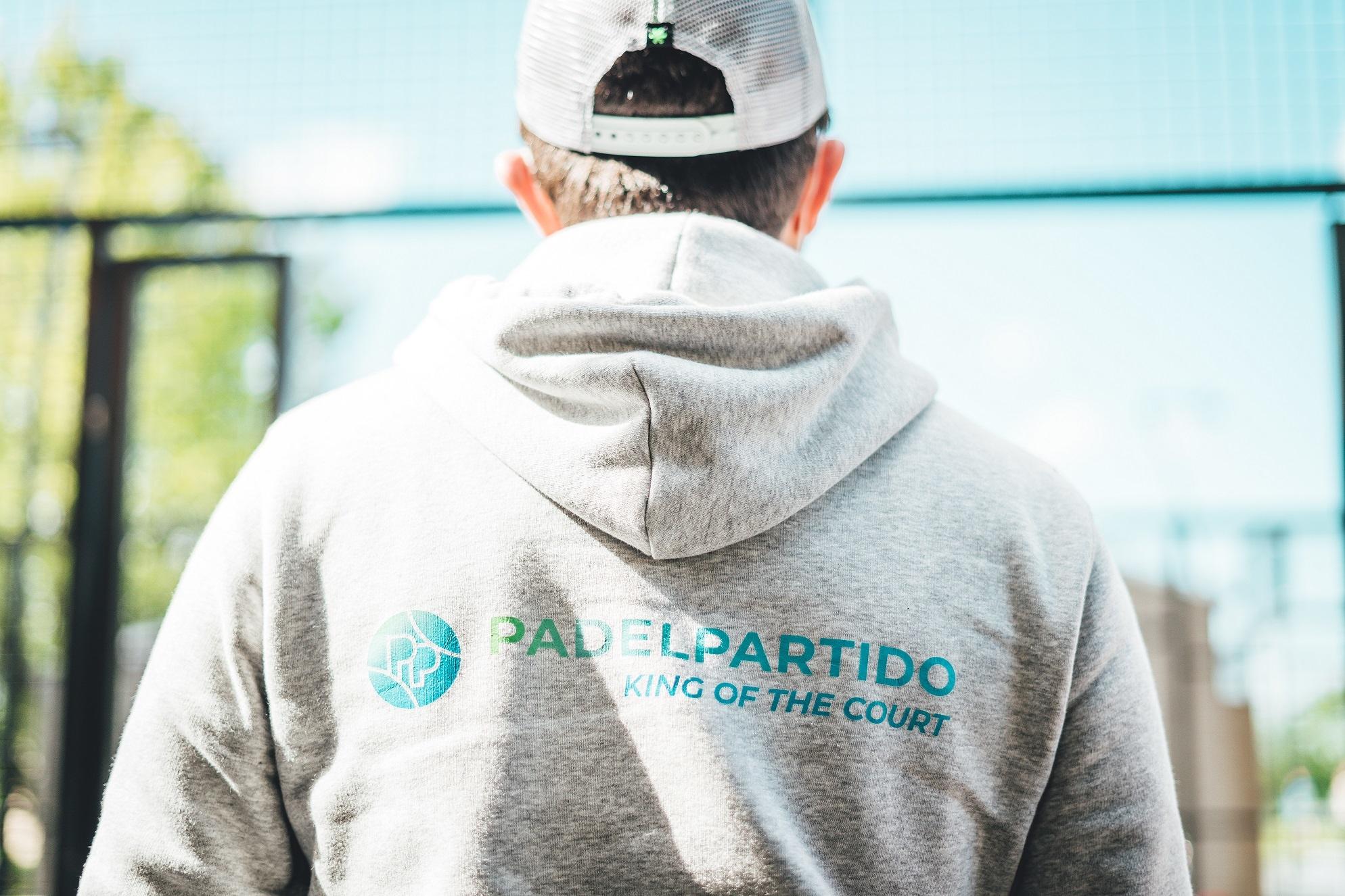 Padel Partido Hoodie Grey (Organic)-2