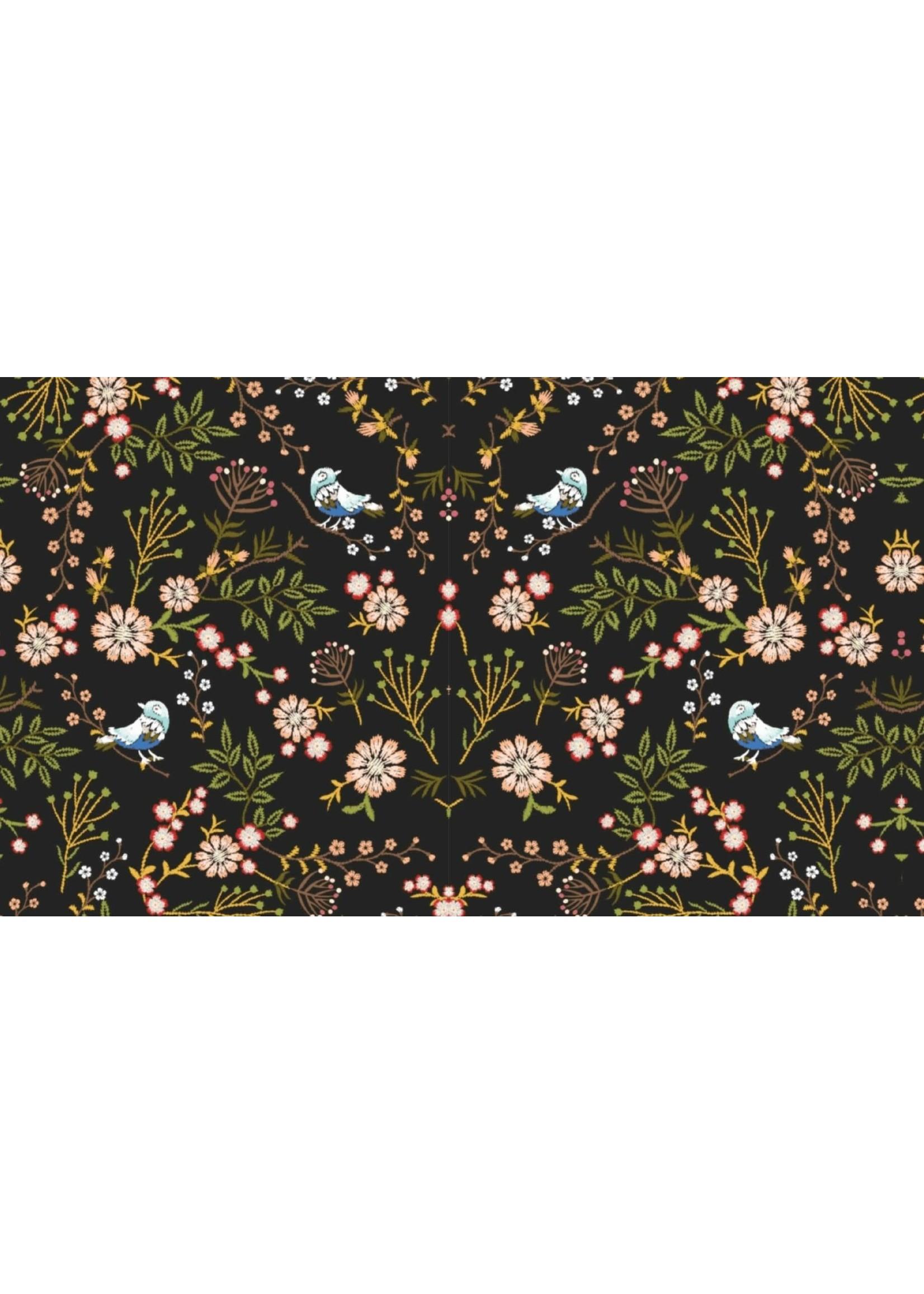 Mutsaers Textiles Alpensweat Jeans Flowers