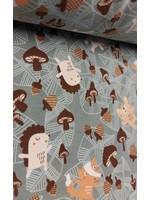 QT Fabrics Jersey Autumn friends