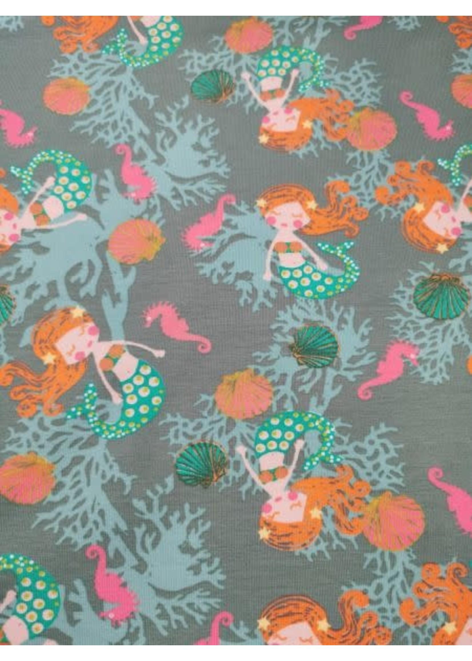Megan Blue Fabrics Beautiful mermaid old green