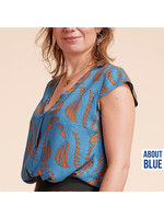 About Blue Fabrics Biais Parrot Blue