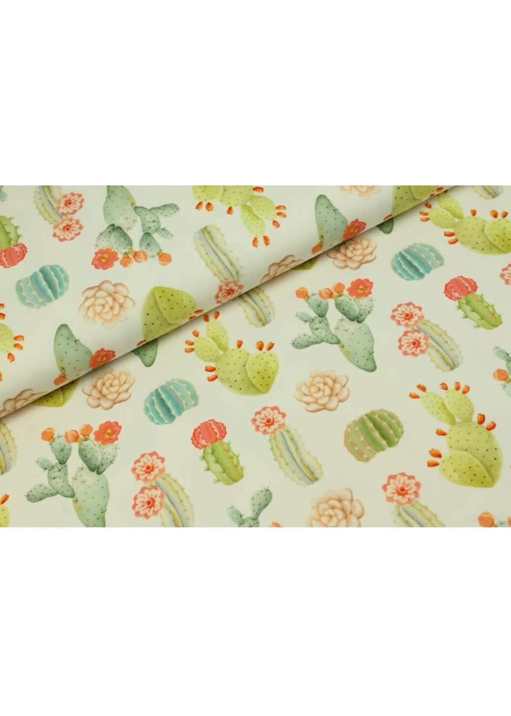 Megan Blue Fabrics Cactus fields wit