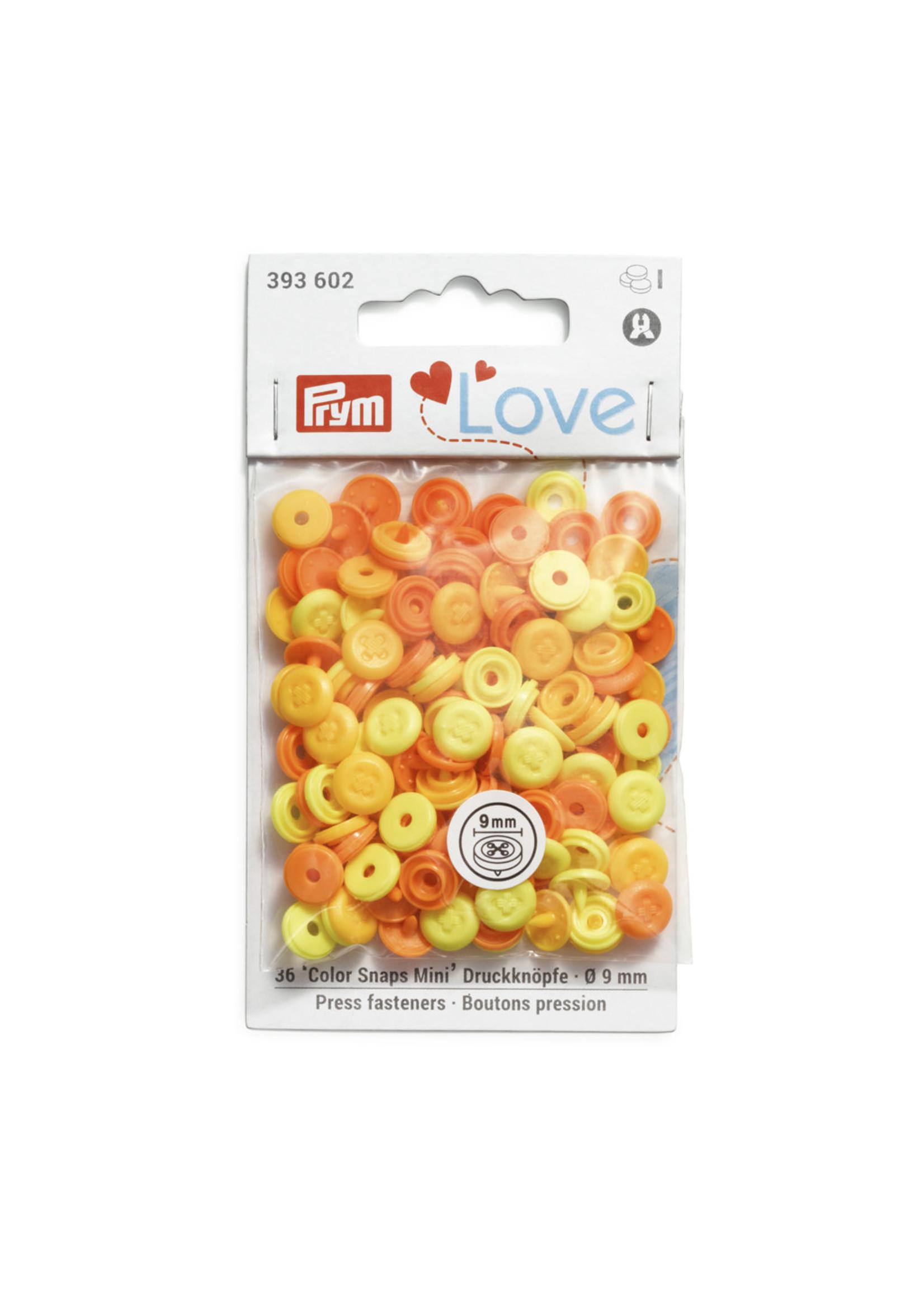 Prym Love Colorsnaps mini geel 602