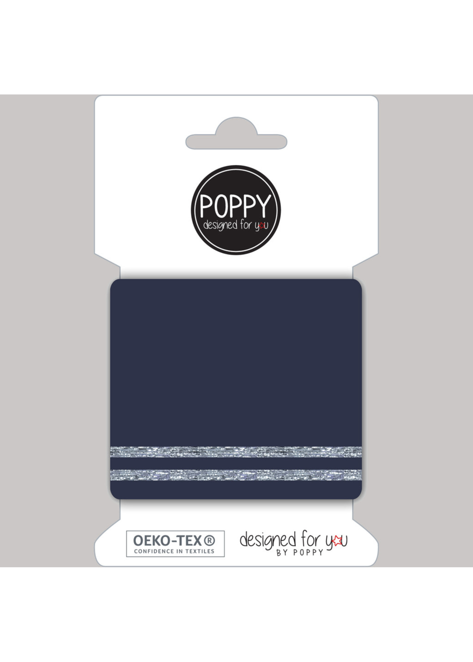 Designed for you by Poppy Cuffs navy/zilver