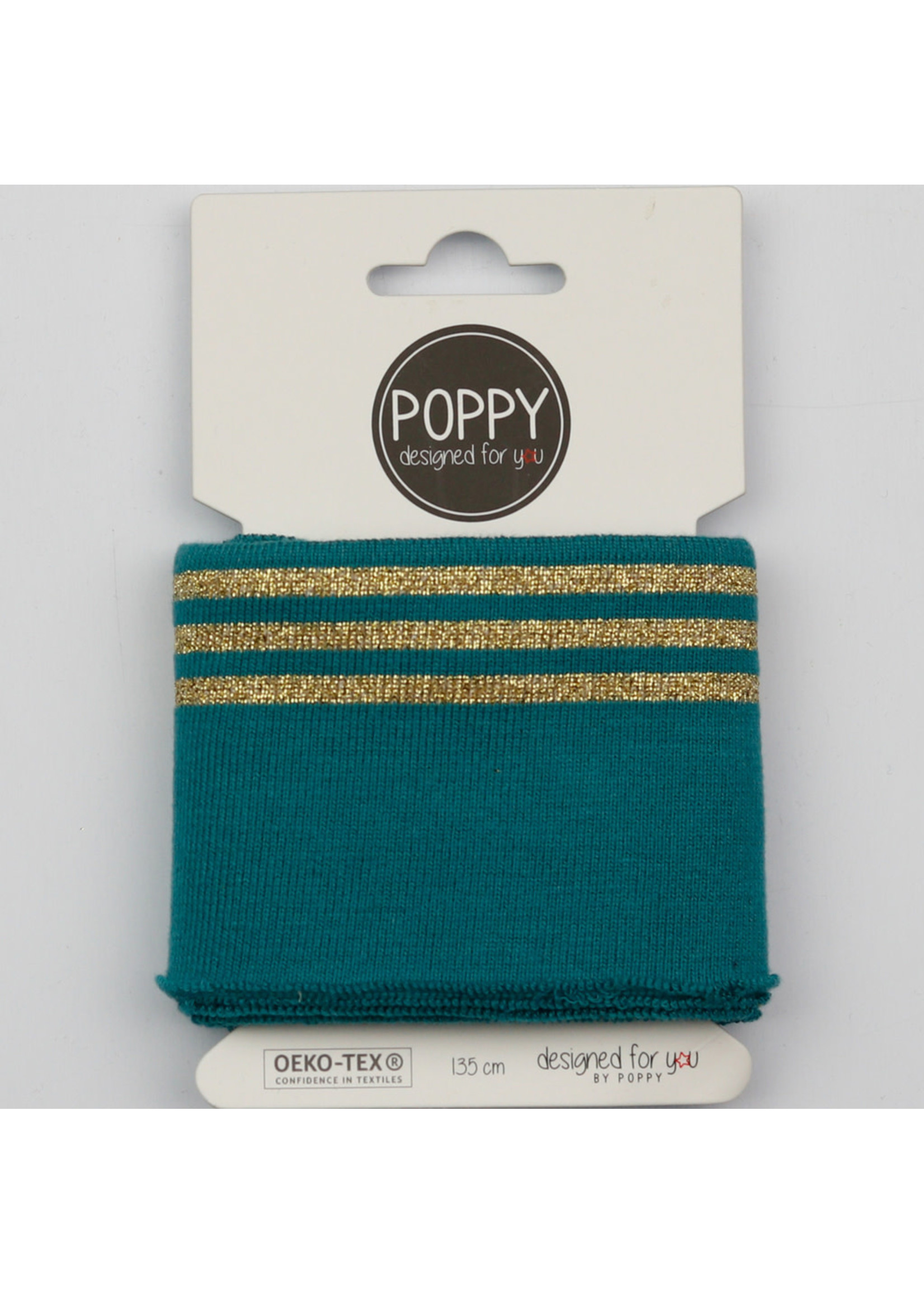 Designed for you by Poppy Cuffs petrol/goud