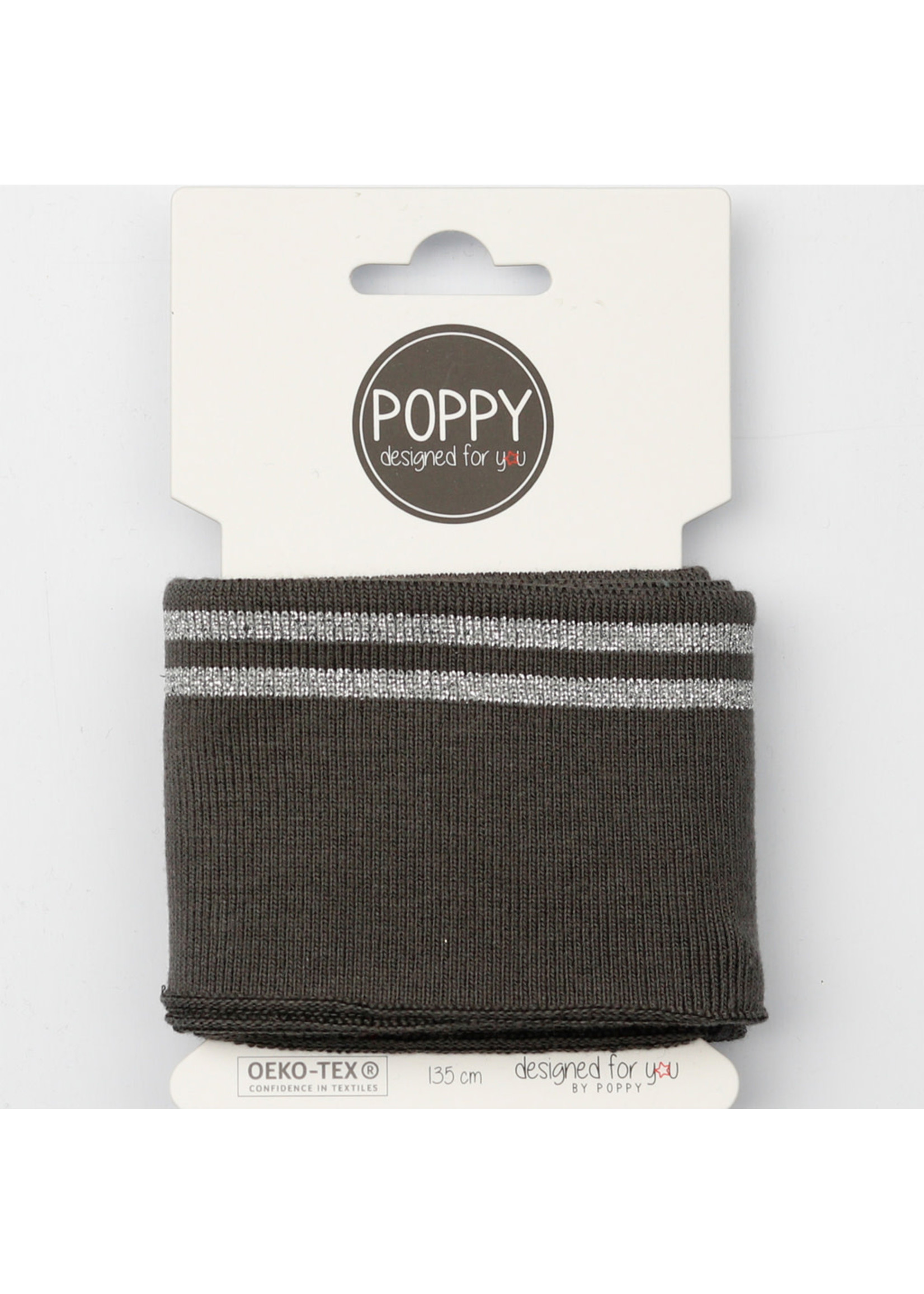 Designed for you by Poppy Cuffs grijs/zilver