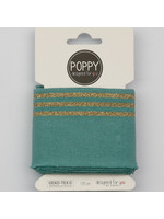 Designed for you by Poppy Cuffs donkermint/goud