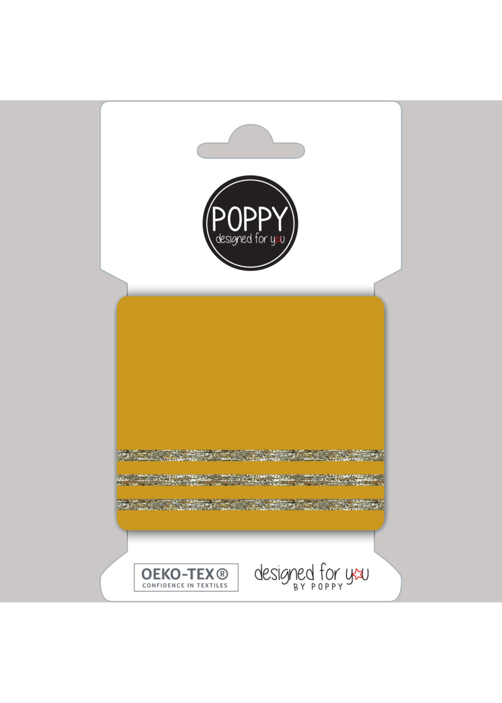 Designed for you by Poppy Cuffs oker/zilver