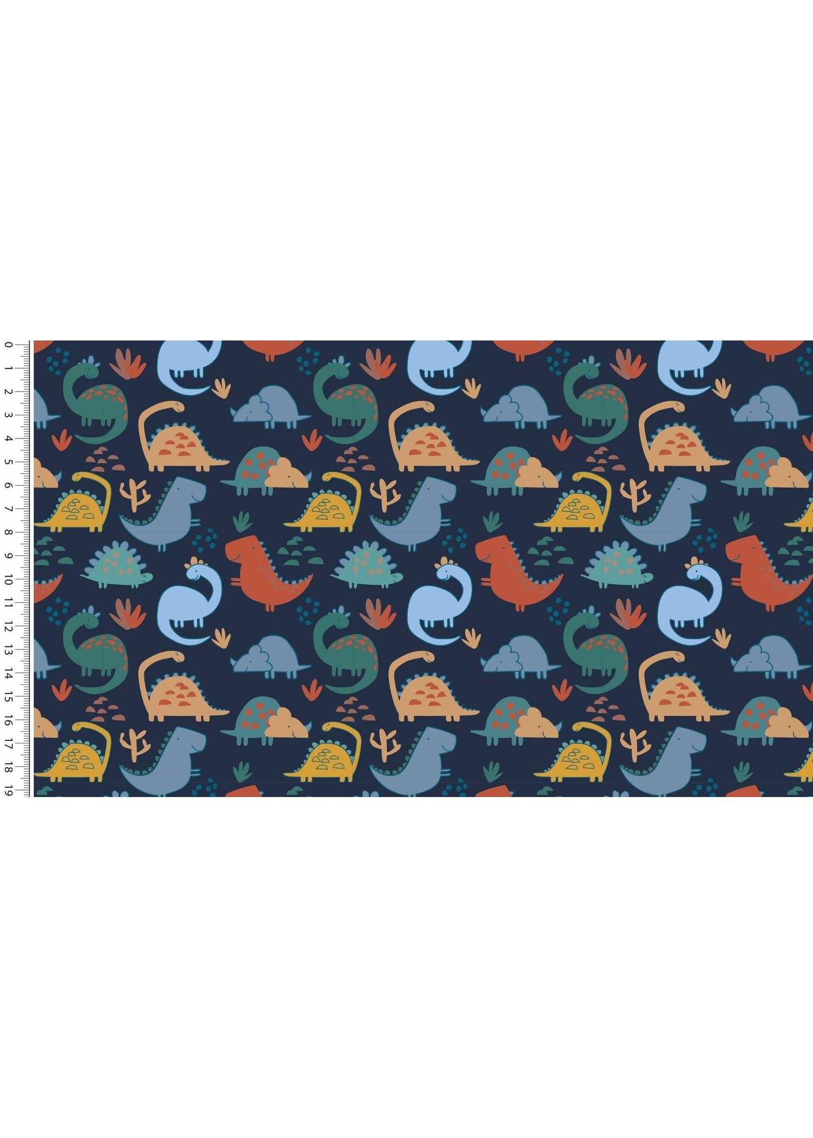Mutsaers Textiles FT Brushed Happy Dino