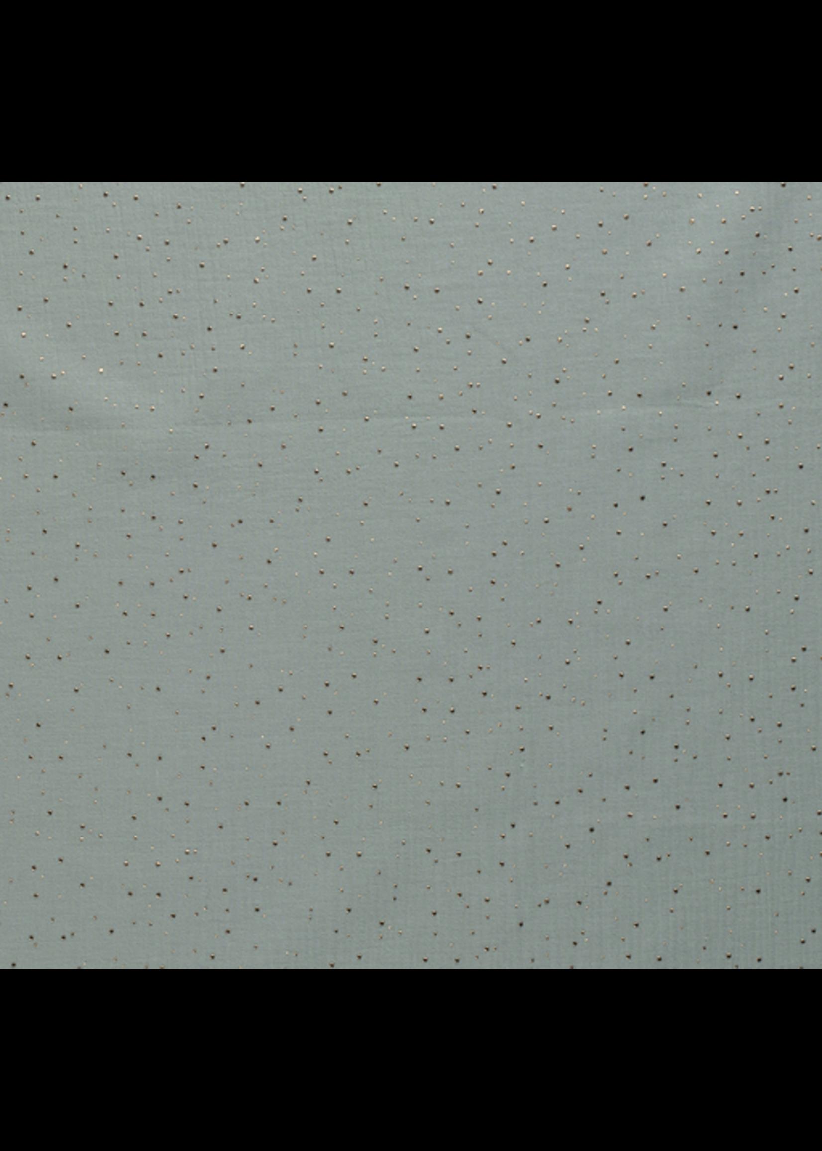 Nooteboom Textiles Hydrofiel oud groen dot