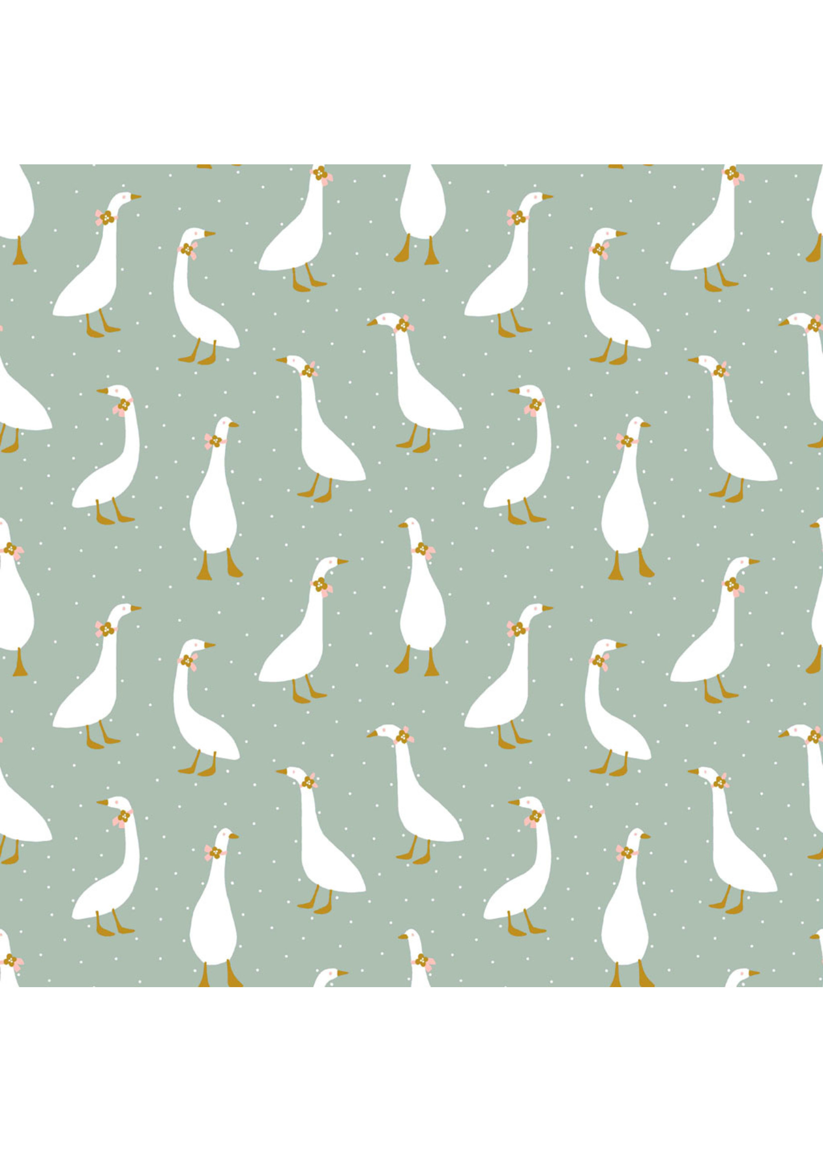 Designed for you by Poppy Jersey GOTS Cute Goose