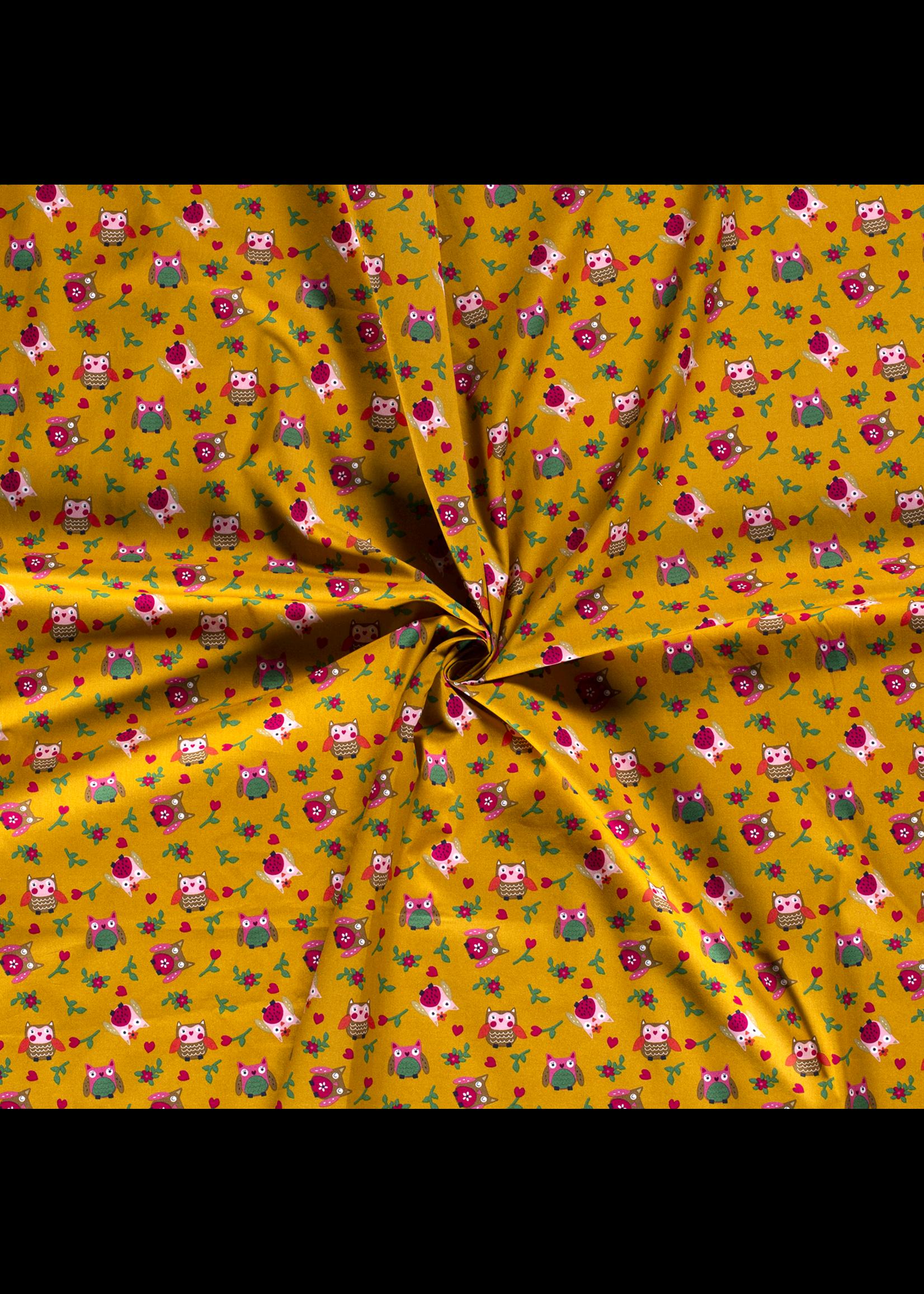 Nooteboom Textiles Katoel uil oker