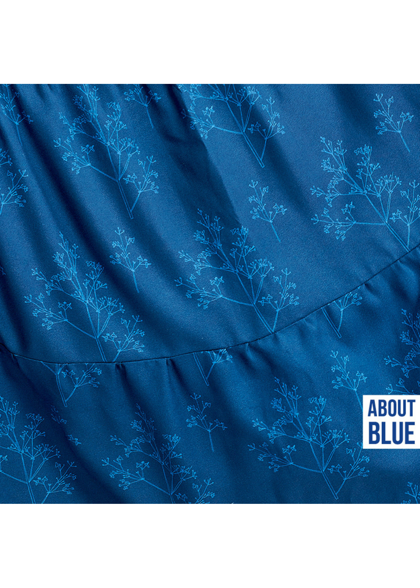 About Blue Fabrics Life is a circus  - flowers and applause