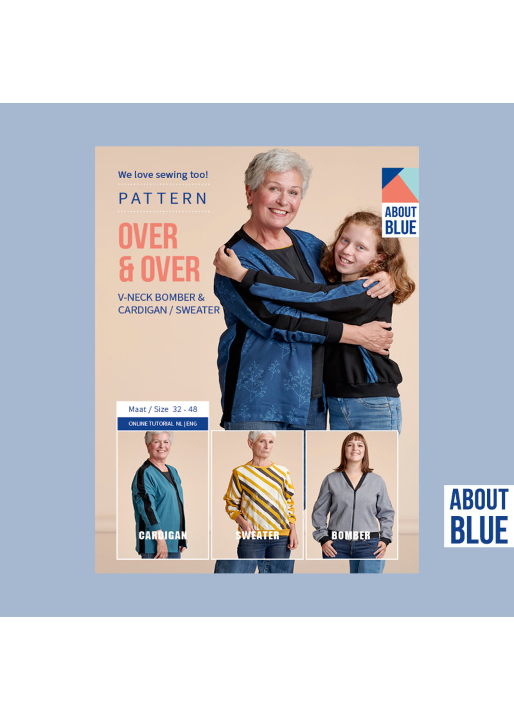 About Blue Fabrics Over & over pattern