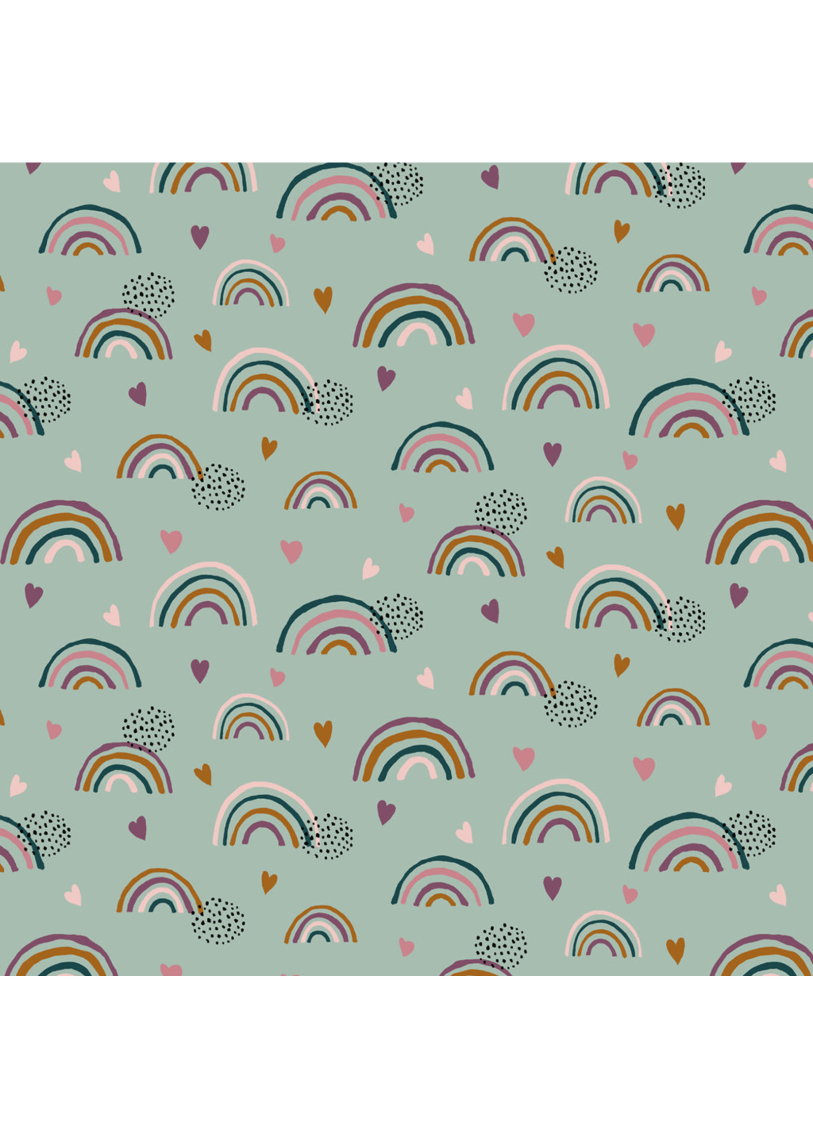 Designed for you by Poppy Rainbow and hearts