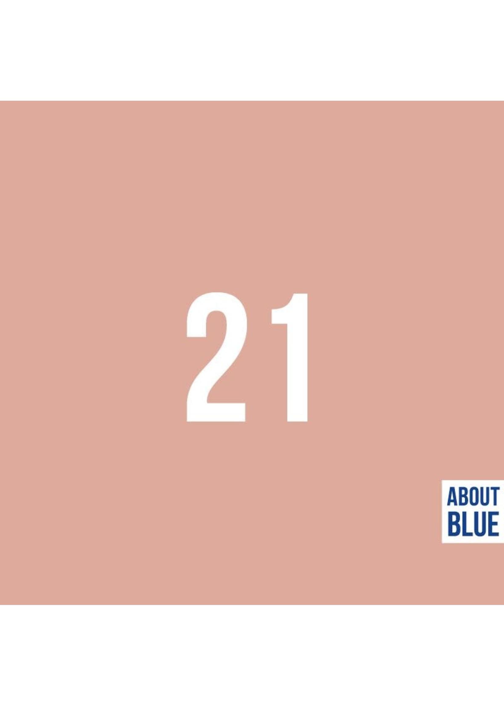 About Blue Fabrics Uni 21 dusty pink Ribbing