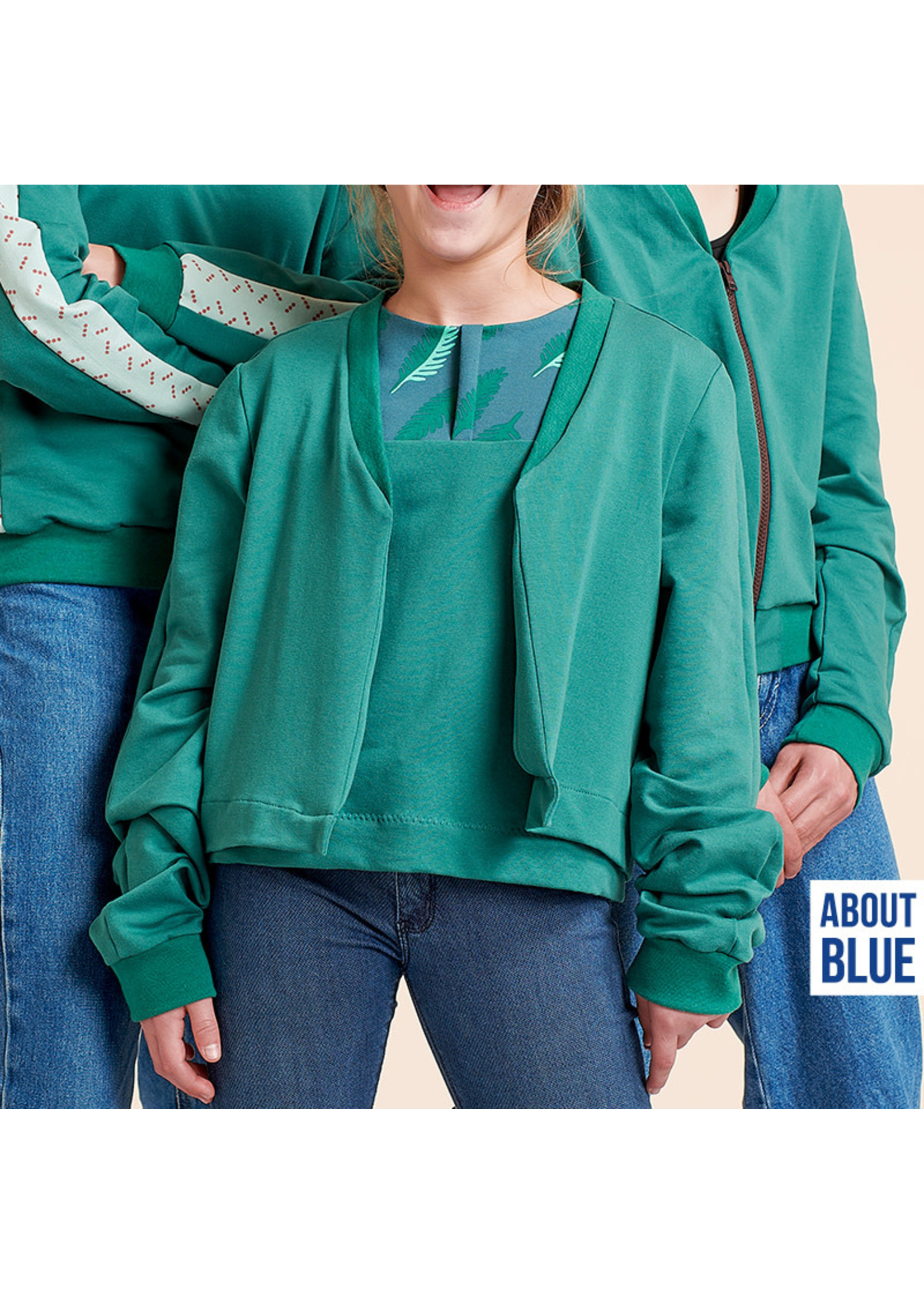 About Blue Fabrics Uni 8 Blue Spruce FT