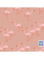 About Blue Fabrics Wonders of life - FLAMINGO