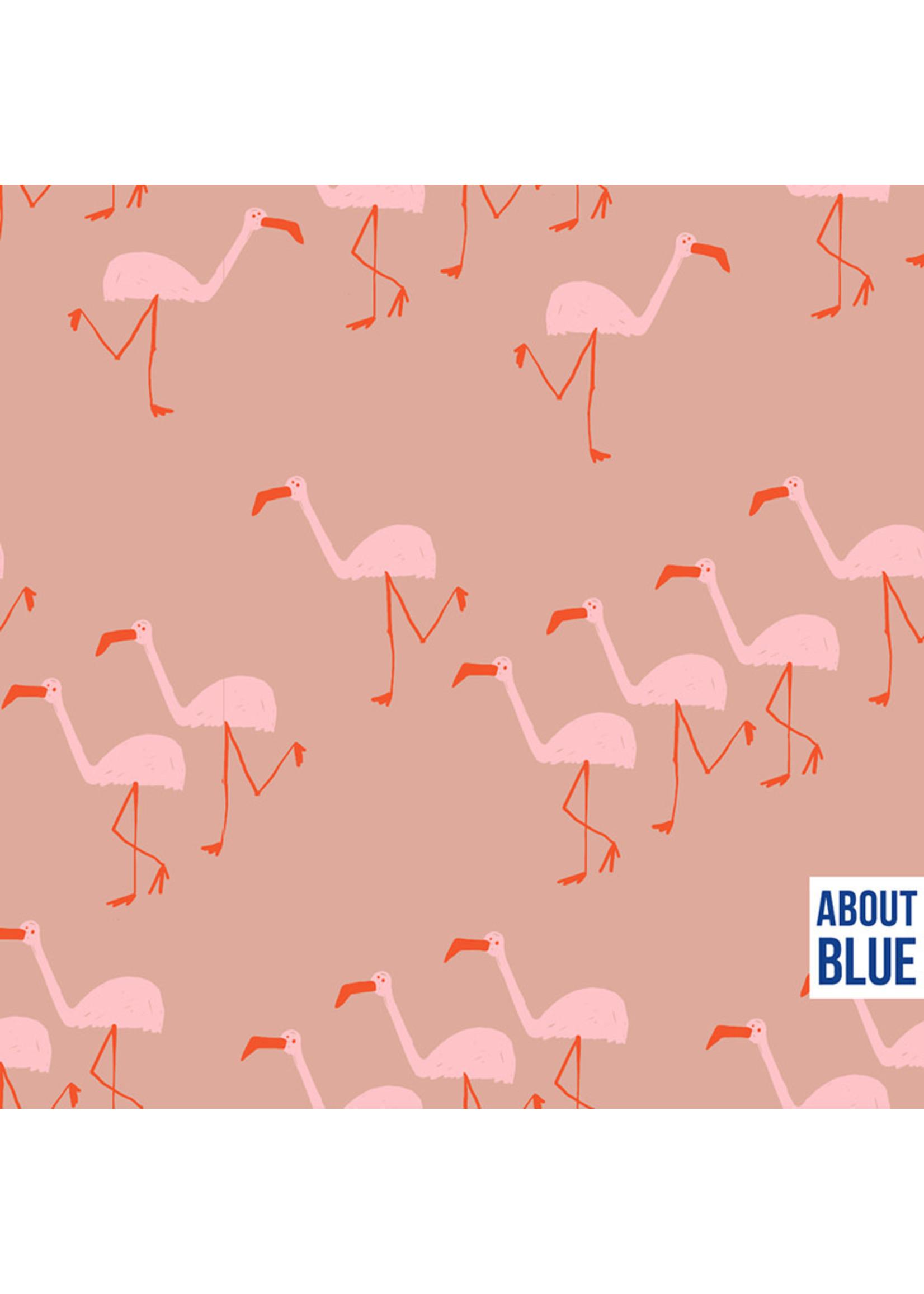 About Blue Fabrics Wonders of life - FLAMINGO