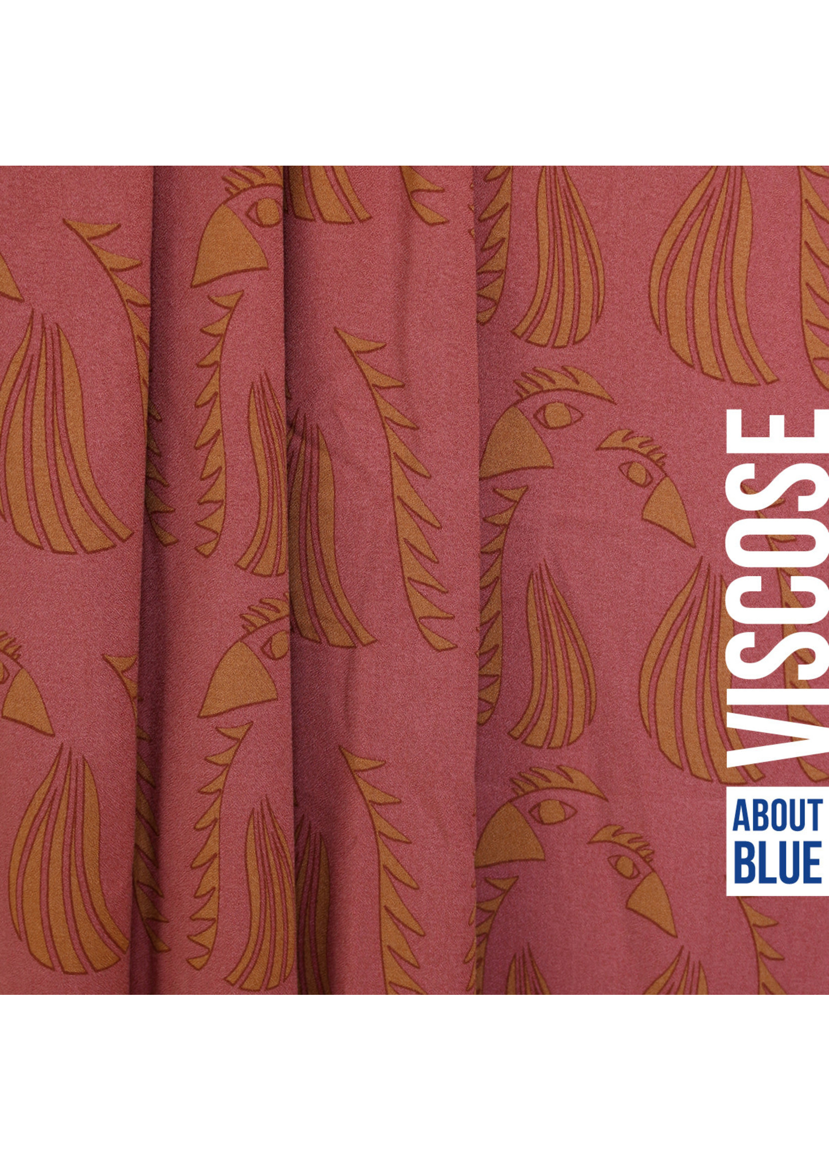About Blue Fabrics Wonders of life - parrot red