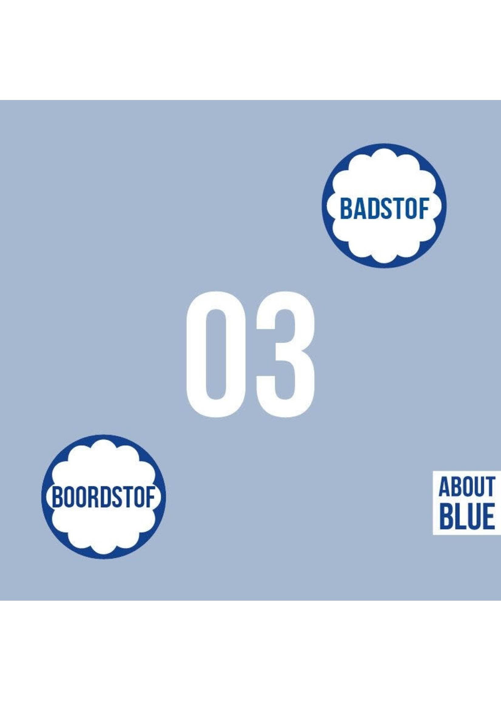 About Blue Fabrics Uni 3 - Cashmere Blue Ribbing