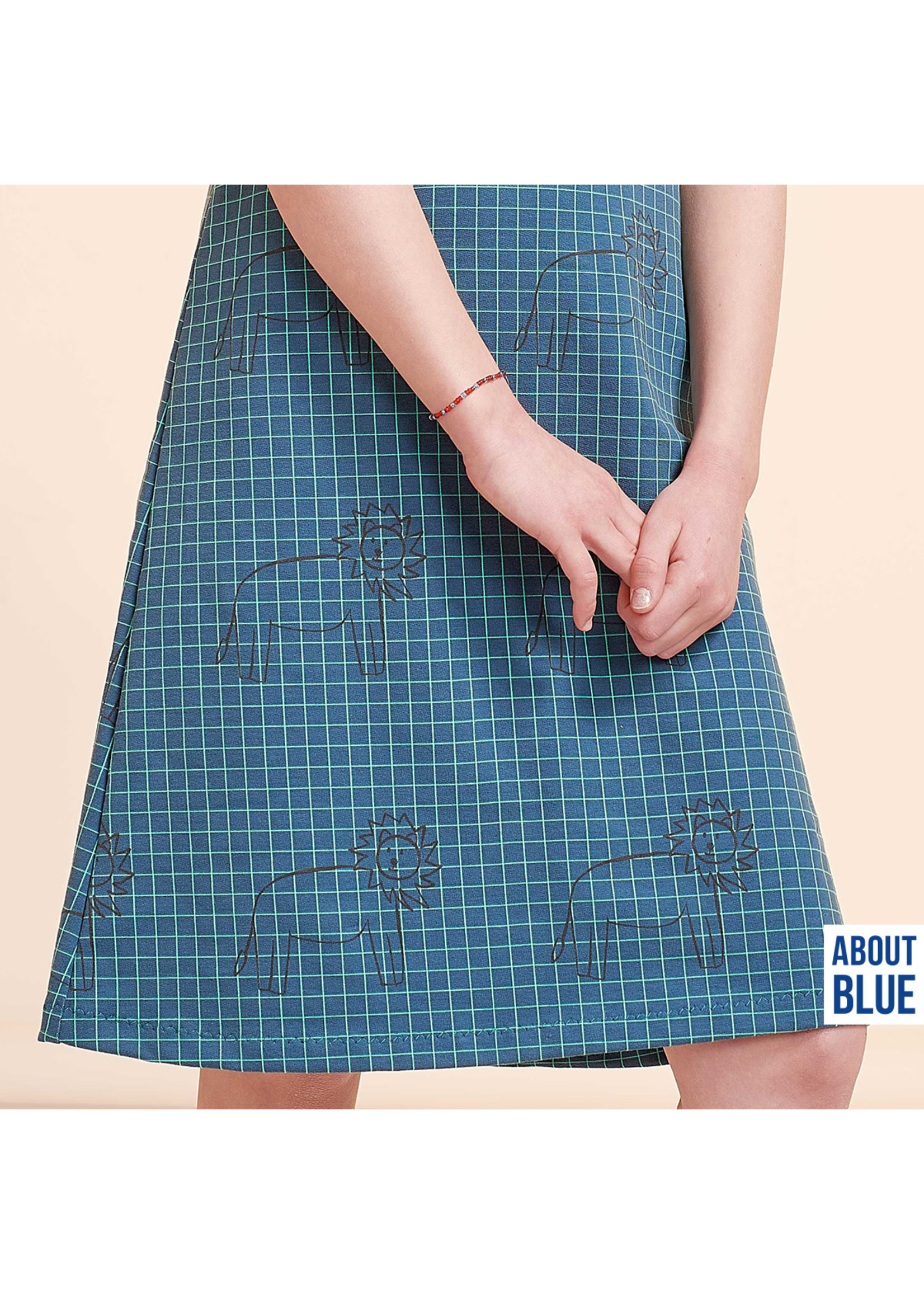About Blue Fabrics All We Have Is Now - Lion Grid