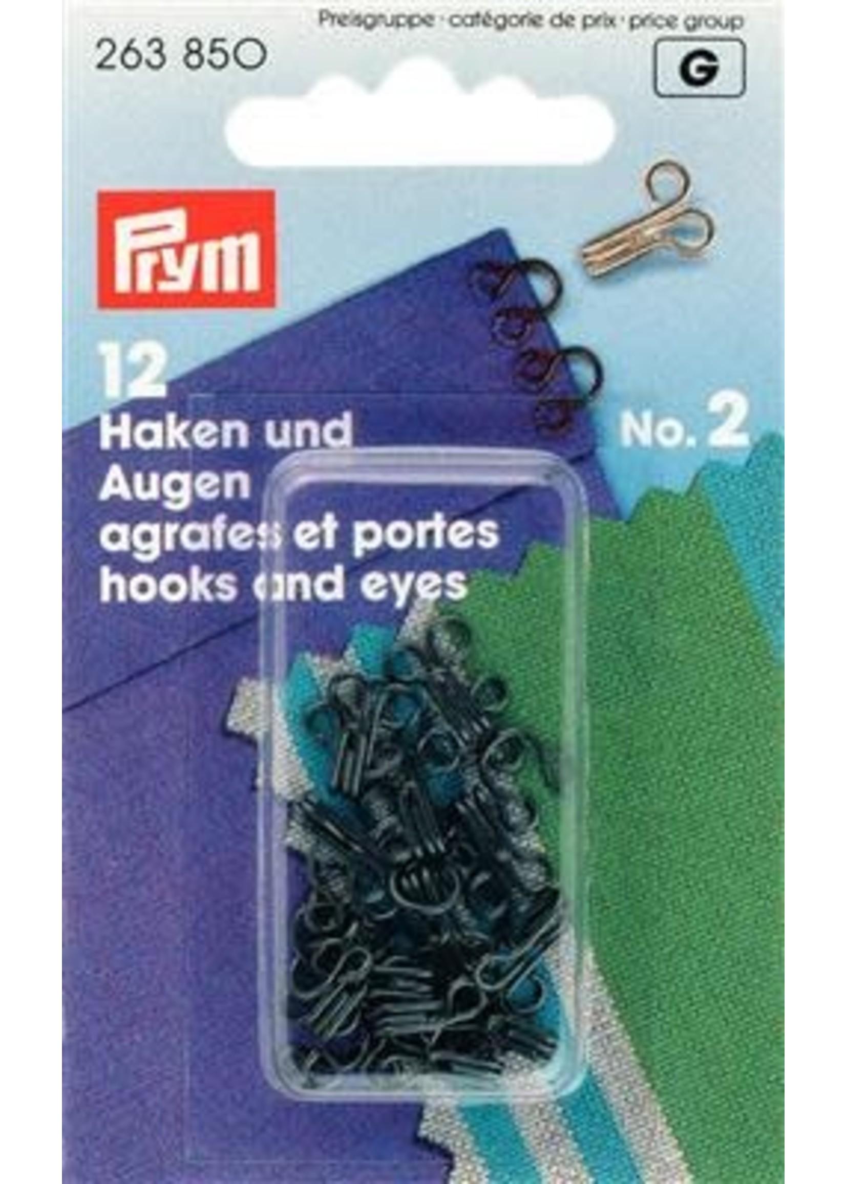 Prym Haken & ogen Zwart n°2