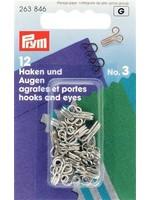 Prym Haken & ogen n°3 zilver
