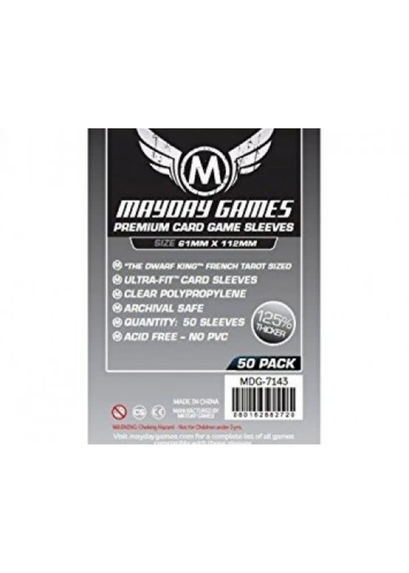Mayday Games Premium Sleeves 61Mm X 112Mm