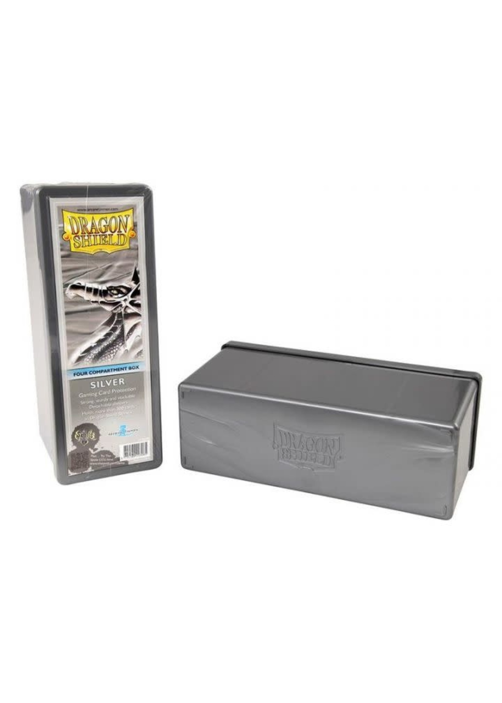 Four Compartment Box Silver
