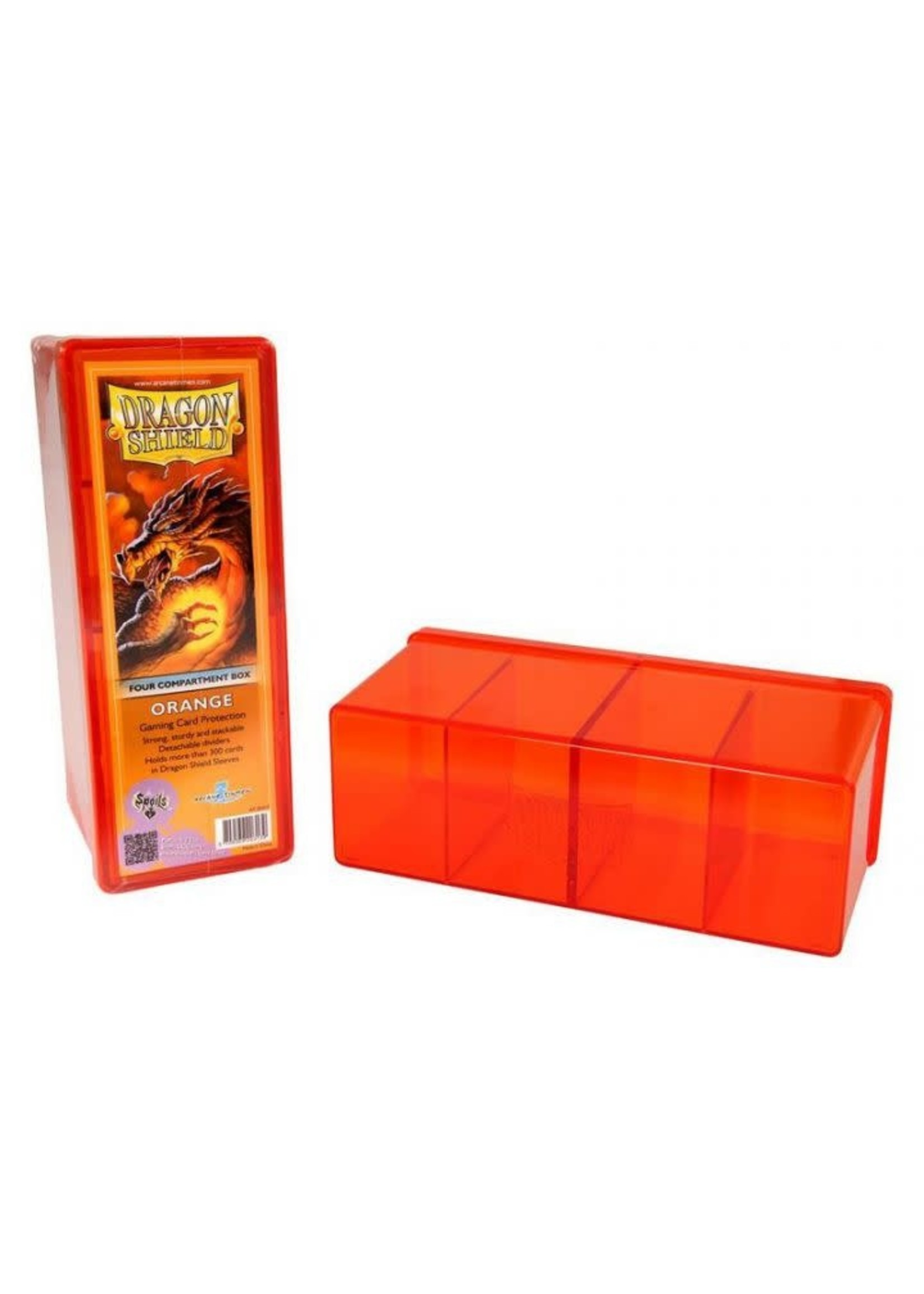 Four Compartment Storage Box Orange
