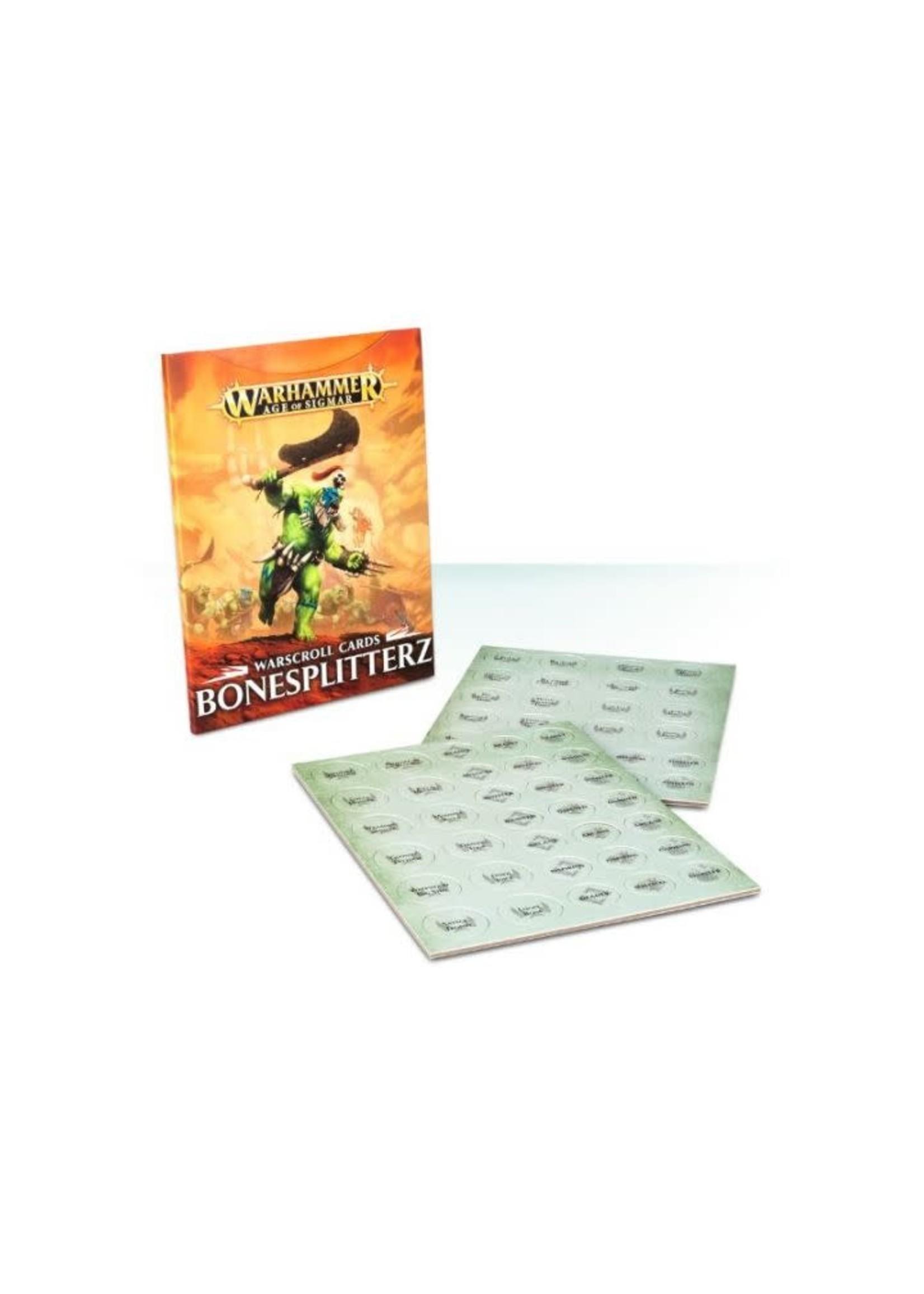 Aos Warscroll Cards Bonesplitterz