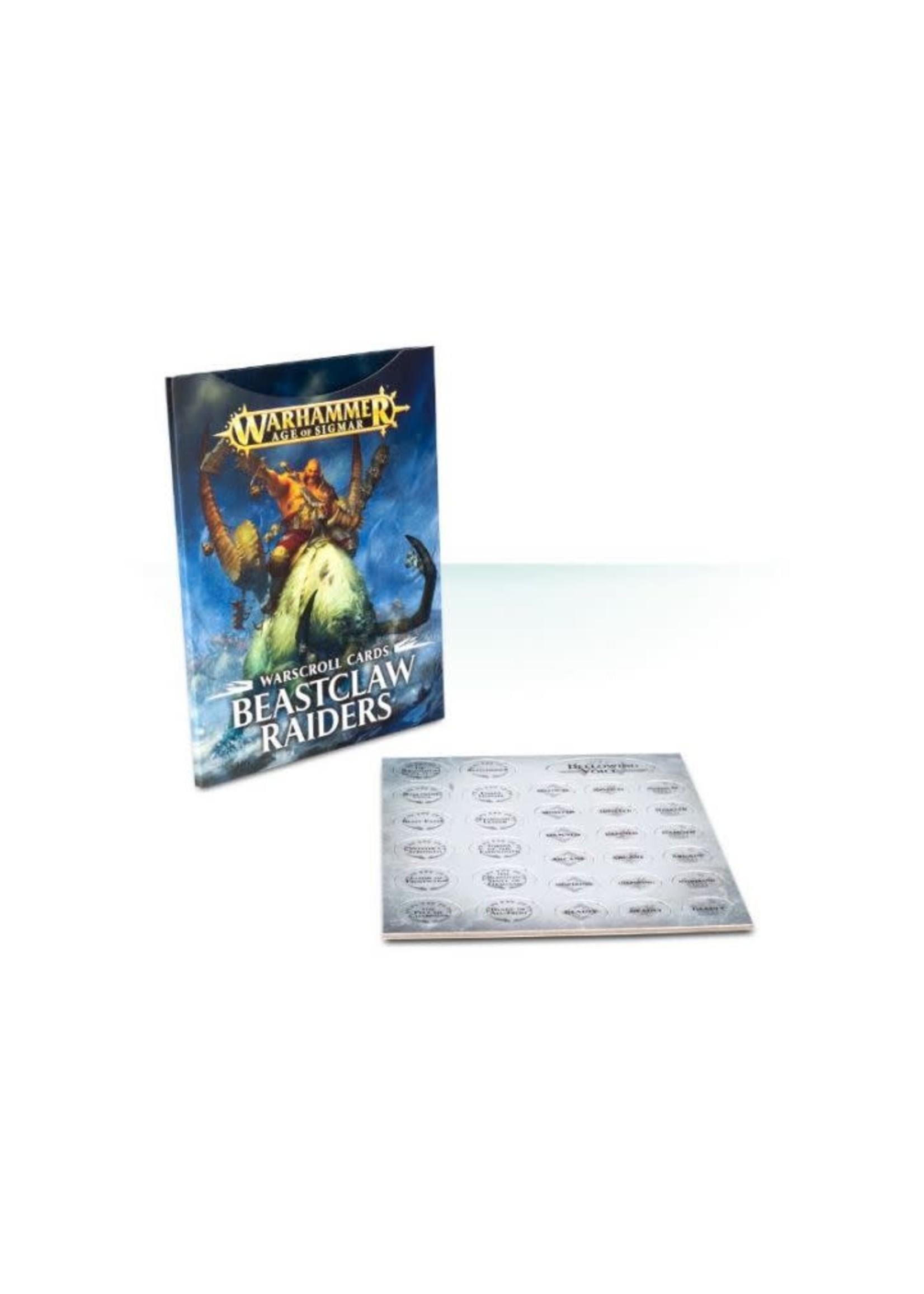 Aos Warscroll Cards Beastclaw Raiders