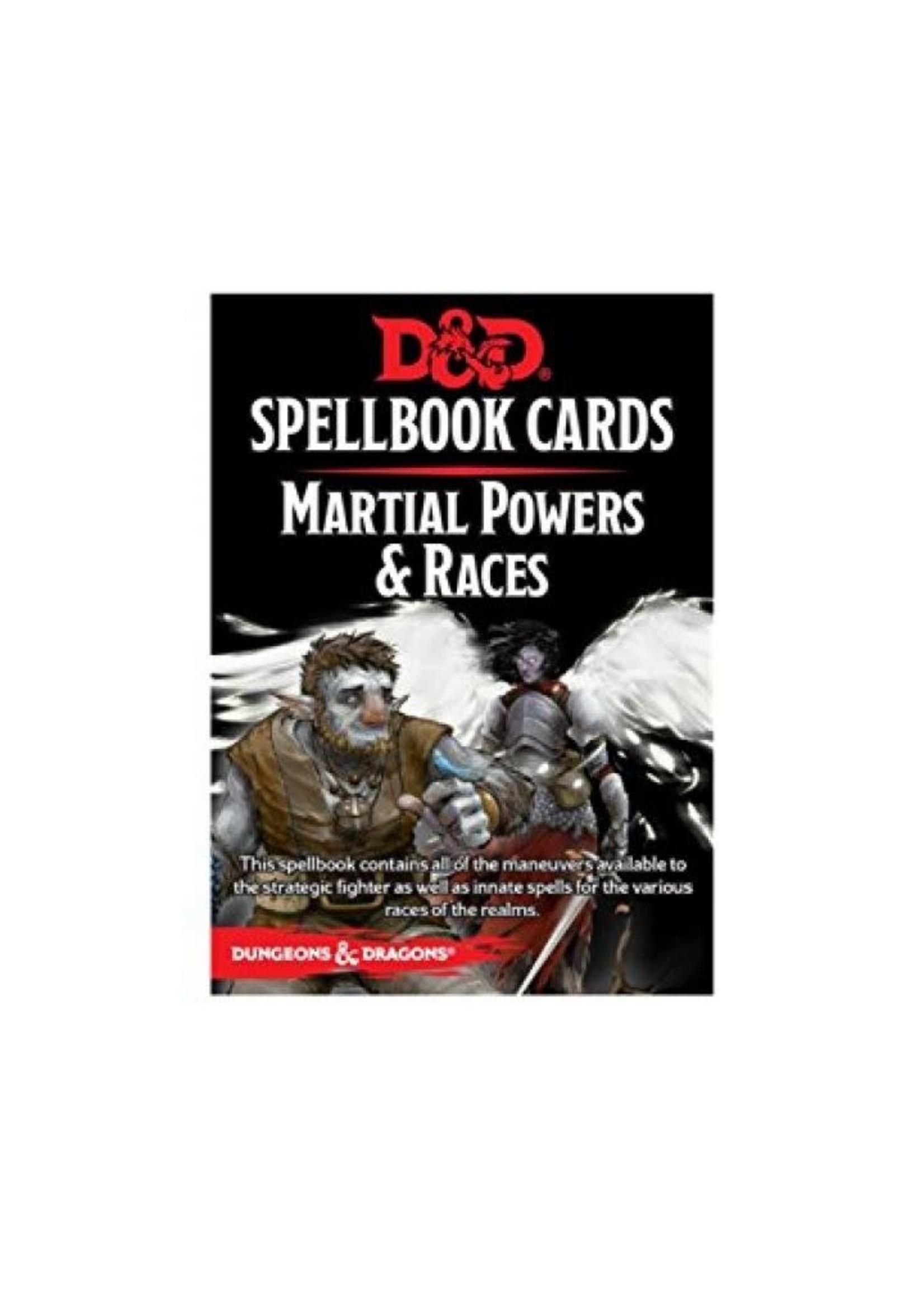 D&D Spellbook Cards Martial Powers & Races