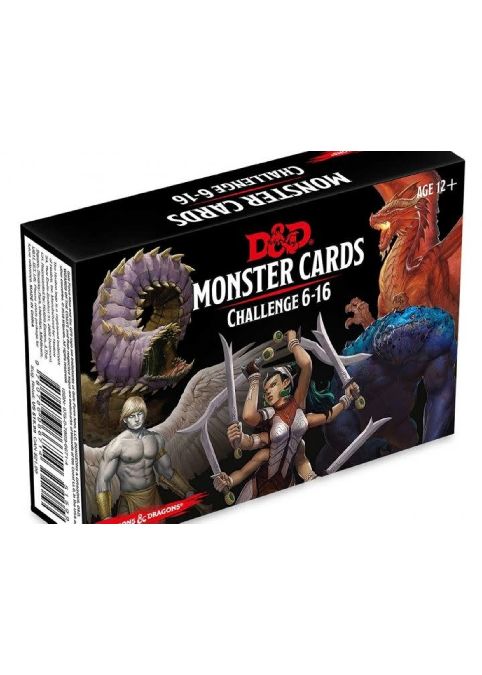 Dungeons & Dragons Monster Card Deck Levels 6-16 (126 Cards)