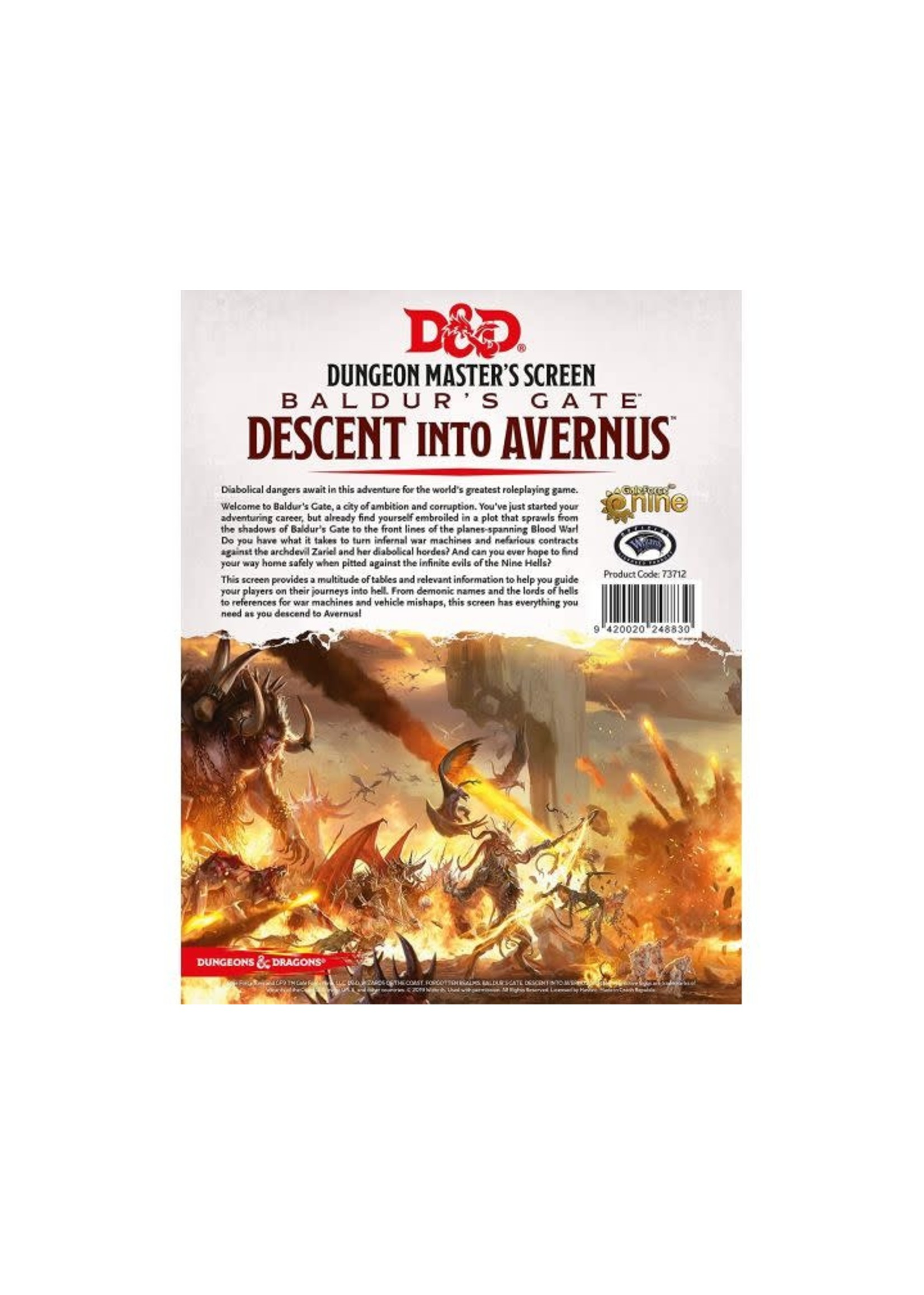D&D Descent Into Avernus Dm Screen