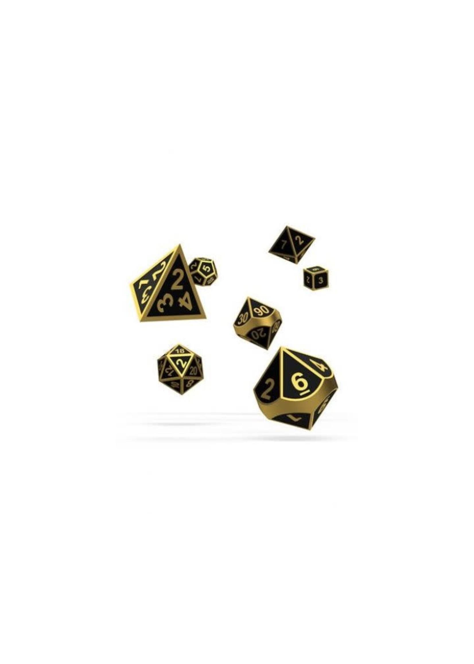 Oakie Doakie Dice Rpg Set Metal Dice - Alchemy Gold