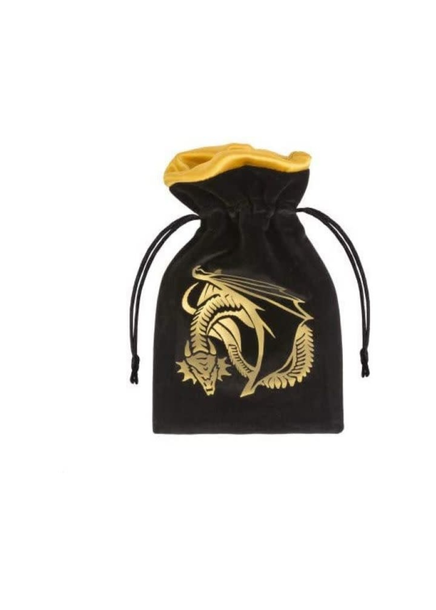 Dice Bag Black And Golden Velour