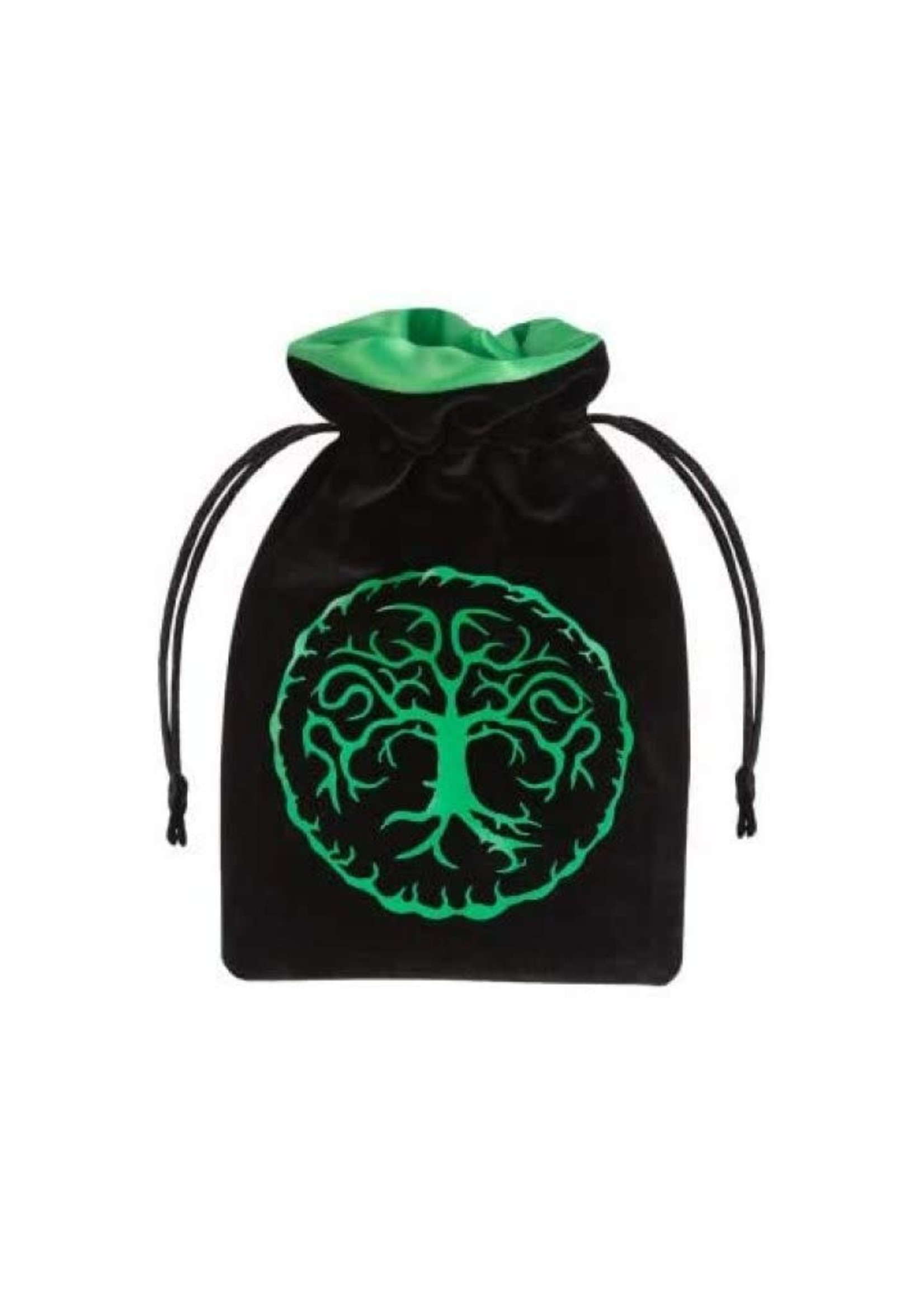 Dice Bag Black And Green Velour