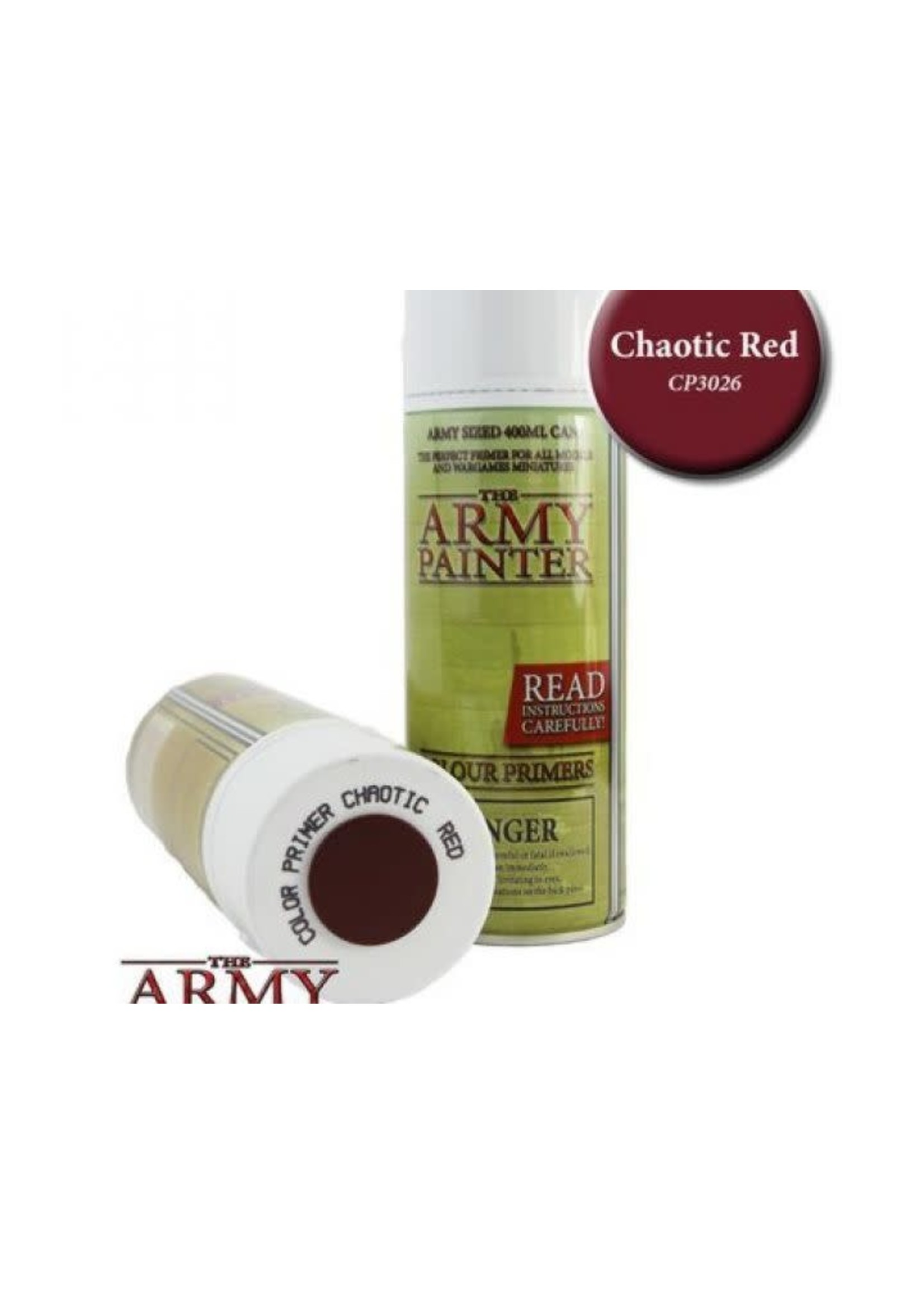 Army Painter Colour Primer - Chaotic Red (400Ml)
