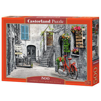 Castorland charming alley with red bicycle 500st
