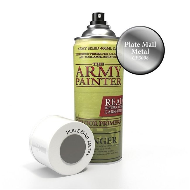 Army Painter Colour Primer - Plate Mail Metal (400Ml)
