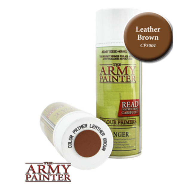 Army Painter Colour Primer - Leather Brown (400Ml)