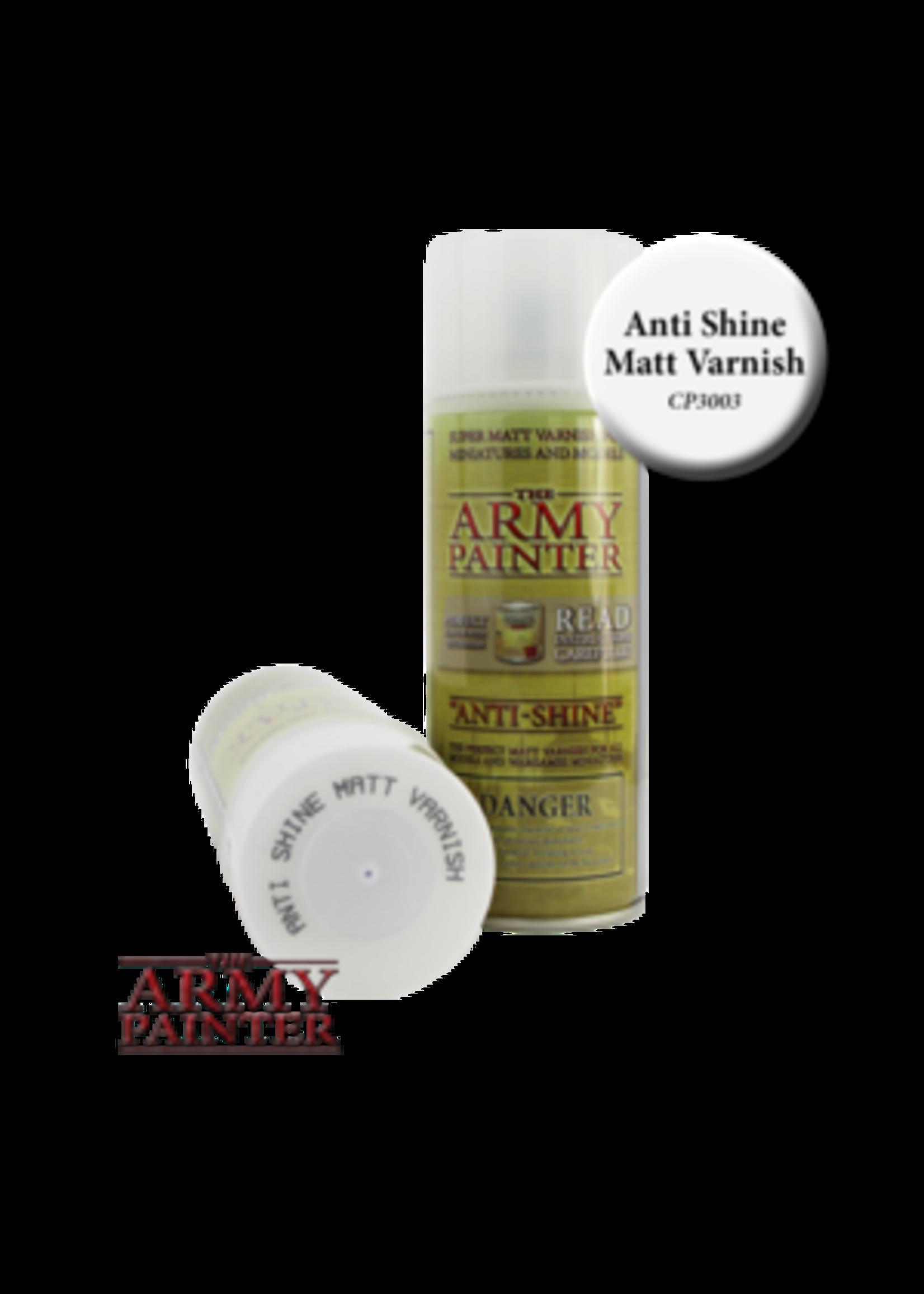 Army Painter Base Primer - Anti Shine, Matt Varnish (400Ml)