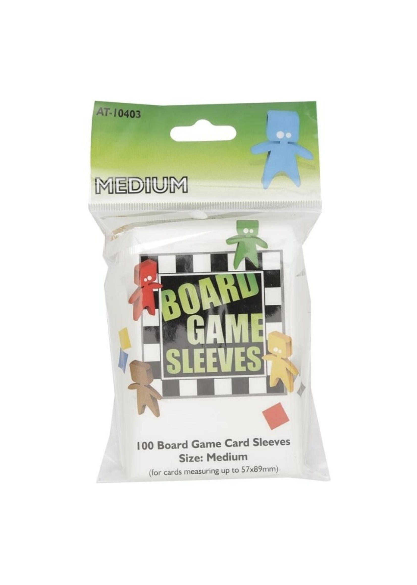 Sleeves Board Game - Clear - Medium - 89X57Mm - 100Pcs